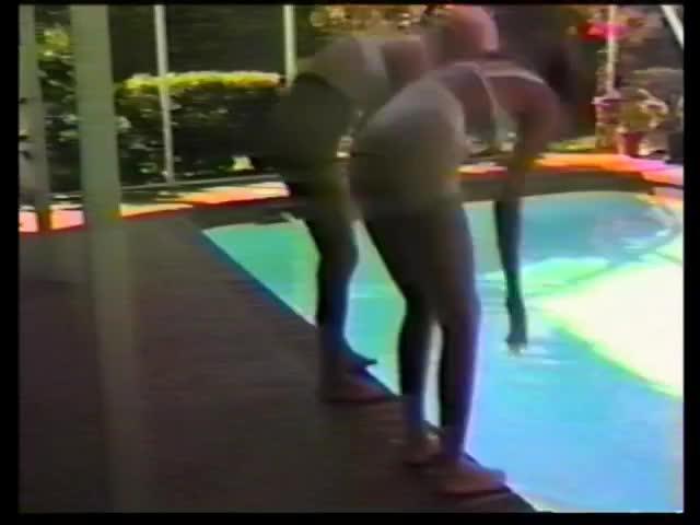 Wet pantyhose video